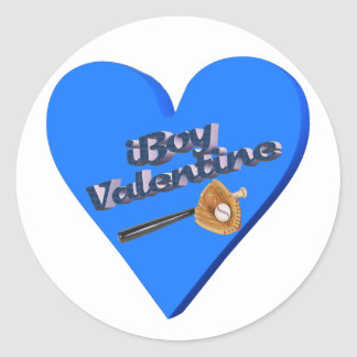 I Boy Valentine T-shirts and Gifts Round Stickers
