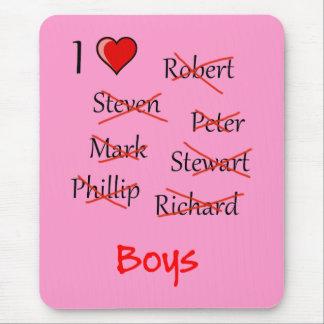 'I ♥ Boys' Mouse Pad
