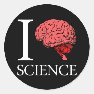 I Brain Science (I Know science) (I Love Science). Classic Round Sticker