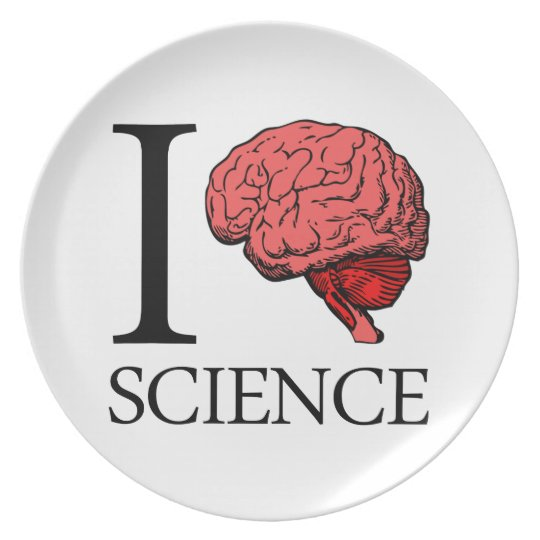 I Brain Science (I Know science) (I Love Science). Dinner Plate