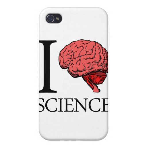 I Brain Science (I Know Science) (I Love Science) iPhone 4/4S Cases