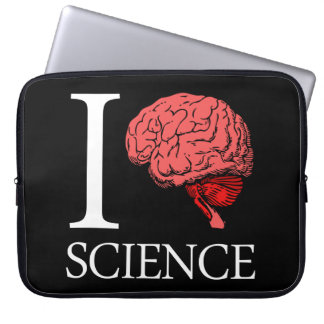 I Brain Science (I Know Science) (I Love Science) Laptop Sleeve