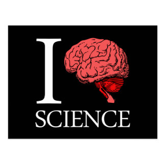 I Brain Science (I Know science) (I Love Science) Post Card