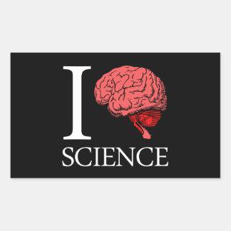 I Brain Science (I Know science) (I Love Science). Rectangular Sticker