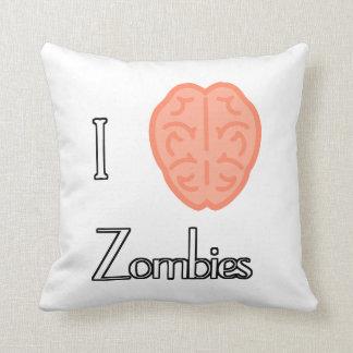 I Brain Zombies American MoJo Pillows