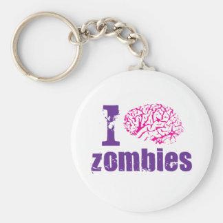 i-brain-zombies basic round button keychain