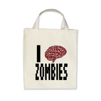 I Brain Zombies Canvas Bags
