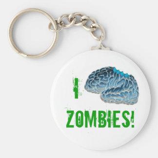 I Brain Zombies Basic Round Button Keychain