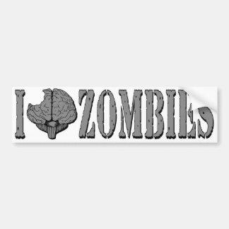 I Brainmunch Zombies White Bumper Sticker Car Bumper Sticker