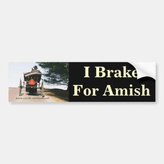 I Brake For Amish-Bumper Sticker