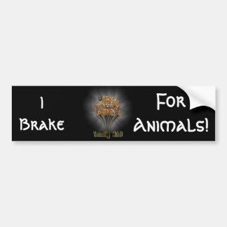 I Brake, For Animals! Bumper Sticker