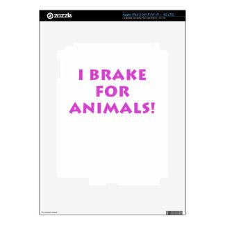 I Brake for Animals iPad 3 Skin