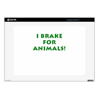 I Brake for Animals Laptop Decal