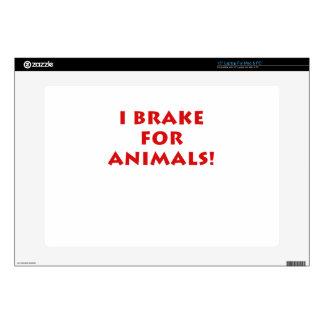 I Brake for Animals Laptop Decals