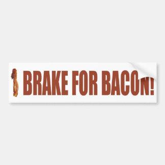 I Brake for Bacon Bumper Sticker Car Bumper Sticker