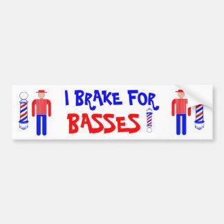 I Brake for Basses! Bumper Sticker
