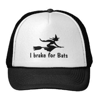 I Brake For Bats Trucker Hats