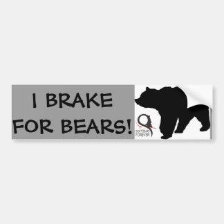 I BRAKE FOR BEARS BUMPER STICKER