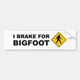 I Brake For Bigfoot Car Bumper Sticker