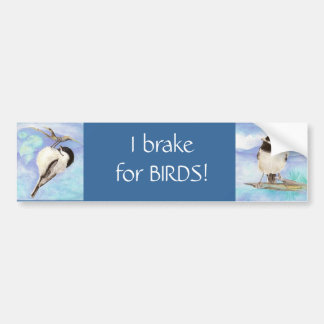 I brake for Birds - Birding Car Bumper Sticker