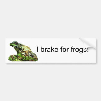 I brake for... bumper sticker
