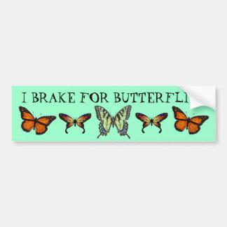 I Brake For Butterflies Car Bumper Sticker