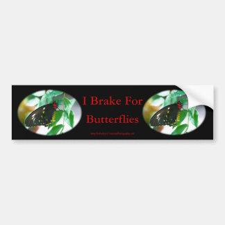 I Brake For Butterflies Nature Bumper Sticker #2 Car Bumper Sticker