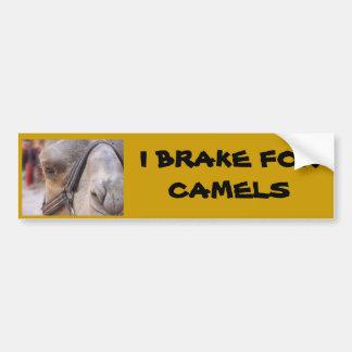 I BRAKE FOR CAMELS CAR BUMPER STICKER