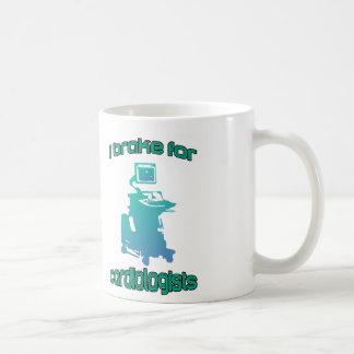 I Brake For Cardiologists Aqua Coffee Mug