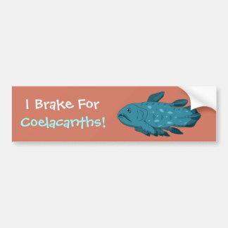 I Brake for Coelacanths! Bumper Sticker