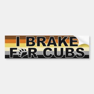 I Brake for Cubs Bumper Sticker