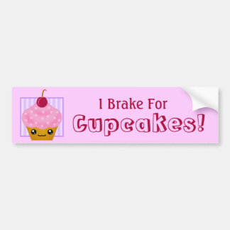 I Brake For Cupcakes Bumper Sticker