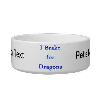 I brake for dragons blue bowl