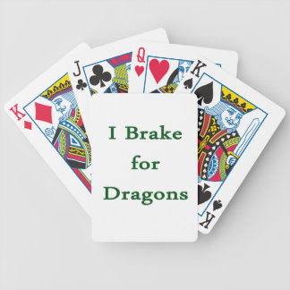 I brake for dragons d green bicycle poker cards