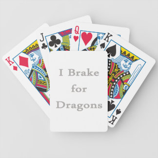 I brake for dragons grey playing cards