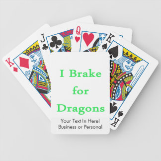 I brake for dragons mint bicycle playing cards