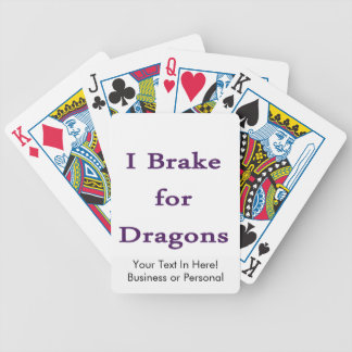 I brake for dragons purple bicycle poker deck