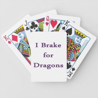 I brake for dragons purple bicycle poker cards