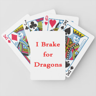 I brake for dragons red card deck