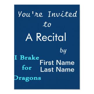I brake for dragons teal card