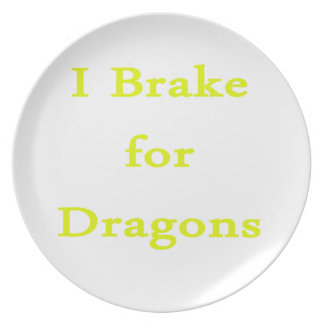 I brake for dragons yellow plates