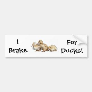 I Brake, For Ducks! bumper sticker