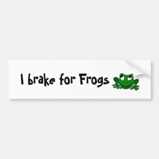 I brake for Frogs Bumper Stickers