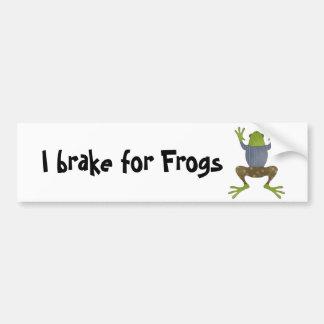 I brake for Frogs Bumper Sticker