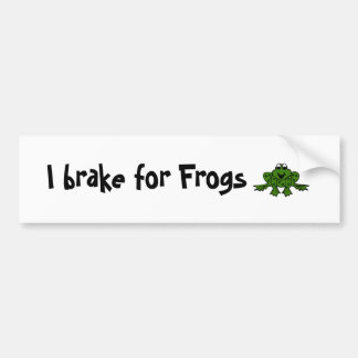 I brake for Frogs Bumper Sticker