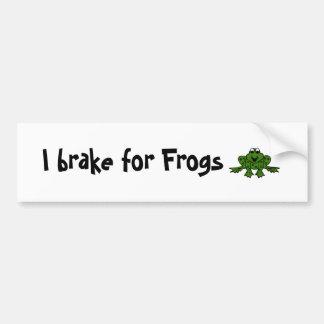I brake for Frogs Car Bumper Sticker