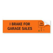 I BRAKE FOR GARAGE SALES - bumper sticker Car Bumper Sticker