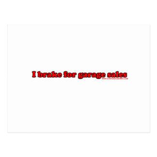 I Brake For Garage Sales Postcard