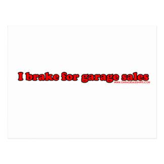 I Brake For Garage Sales T Postcard