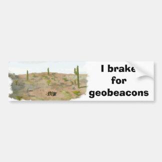 I brake for geobeacons (arid) car bumper sticker